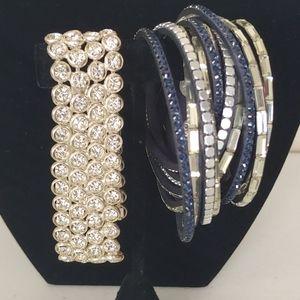 Rhinestone Bracelet / Wrap bracelet